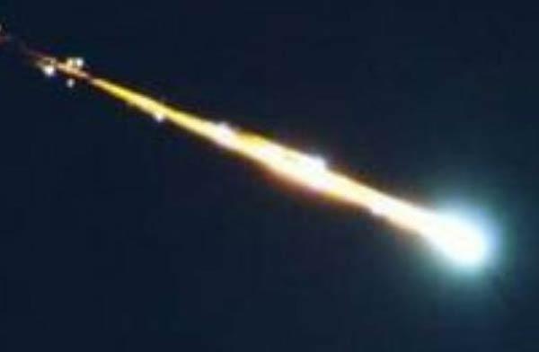 Is it a meteor? Is it a plane? No, it's… junk.